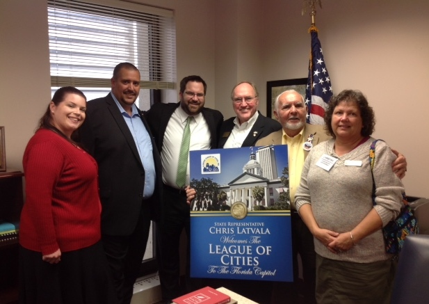 Members of SLC Advocacy Team meet with Rep. Burgess in Tallahassee.